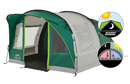 Coleman Rocky Mountain 5 Plus Family Tent, 5 Man Tent, Blocks up to 99 Percent of Daylight, 2...