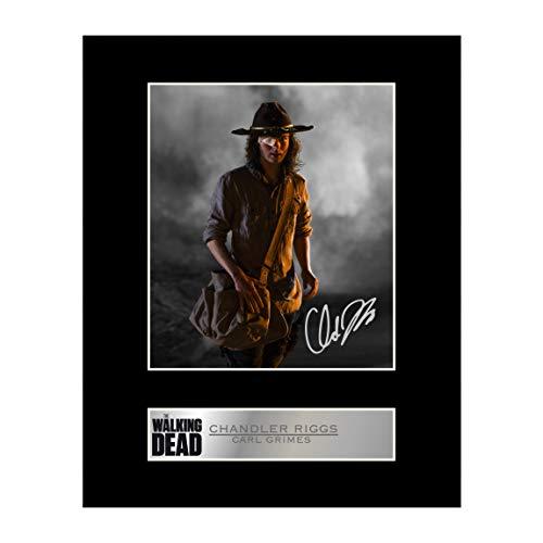Chandler Riggs, Carl Grimes firmado foto enmarcada The Walking Dead # 1