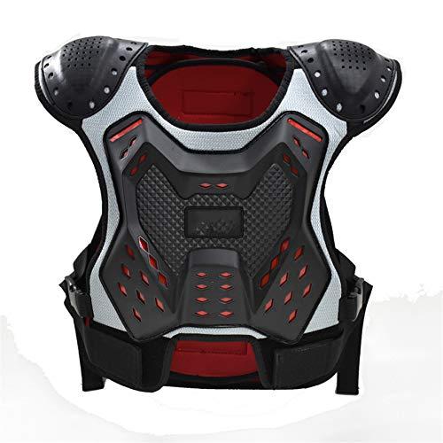 Massage-AED Armadura Moto NiñO,Protector de Pecho para niños para la Columna Vertebral, Armadura anticaída para Motocross, Ciclismo, esquí, monopatín