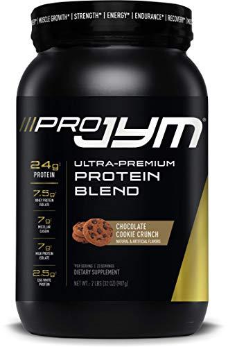 Pro JYM Protein Powder - Egg White, Milk, Whey Protein Isolates & Micellar Casein | JYM Supplement Science | Chocolate Cookie Crunch, 2 lb