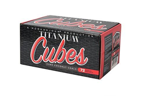 HookahJohn Titanium Coconut Hookah Coals - 72 Count Cubes
