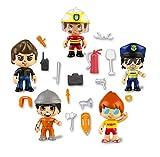 Pinypon Action 700015265 - Set 5 Personaggi e Accessori, per Bambini da 4 a 8 Anni...