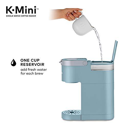 Keurig K-Mini Coffee Maker, Single Serve K-Cup Pod Coffee Brewer, 6 to 12 Oz. Brew Sizes, Dreamy Blue