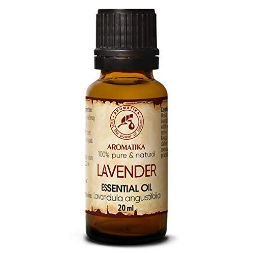 100% Naturreines Ätherisches Lavendelöl 20ml - Lavandula Angustifolia - Bulgarien - Anwendung Lavendeloel für Aromatherapie - Raumduft - Guten Schlaf - Duftlampe