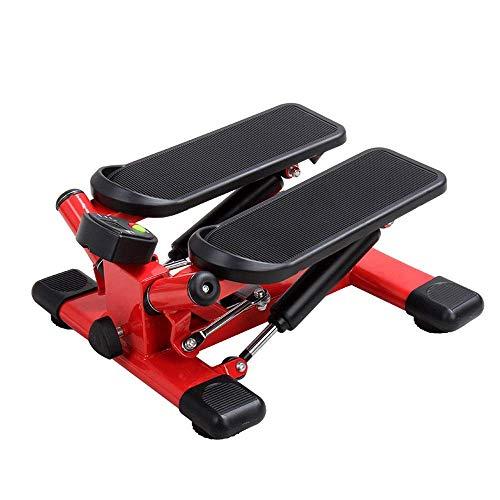 HYY-AA Paso a paso interior de fitness escalera paso a paso ajustable Mini Gimnasio Máquinas de ejercicios paso a paso ejercicio Cardio Trainer Torsión Acción Mini de pasos (Color: Rojo, Tamaño: 43x46