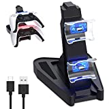 FASTSNAIL per PS5 Controller Charger, Dock di ricarica rapida per PS5 DualSense Twin Charger Station Supporto...