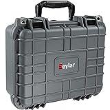 Eylar Tactical Hard Gun Case Water & Shock Proof with Foam TSA Approved 13.37 Inch 11.62 Inch 6 Inch Gray