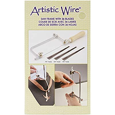 Beadalon 224S-100 Artistic Wire Jewelers Saw Frame with Blade Assortment