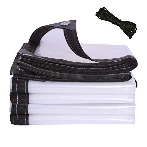 YJHH Lonas Impermeable Transparentes 3x4m, Lona De Protección contra La Lluvia Transparente, Lonas para Piscinas - Plástico Aislamiento Frente Al Frío para Flores
