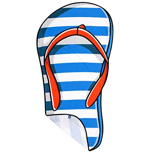 Yello Flip Flop Towel Toalla de Playa con diseño de Chanclas, Multicolor, 165x85cm