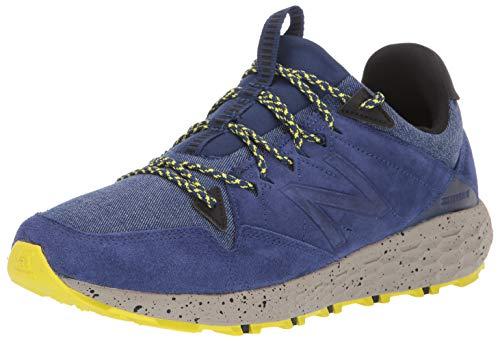 New Balance Crag V1 Fresh Foam, Zapatillas para Carreras de montaa Hombre, Techtonic Azul azufre Amarillo, 53 EU