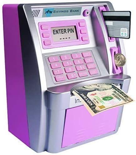 LB ATM Savings Bank for Kids Girls Cash Coins Personal ATM Piggy Bank Money Savings Machine product image
