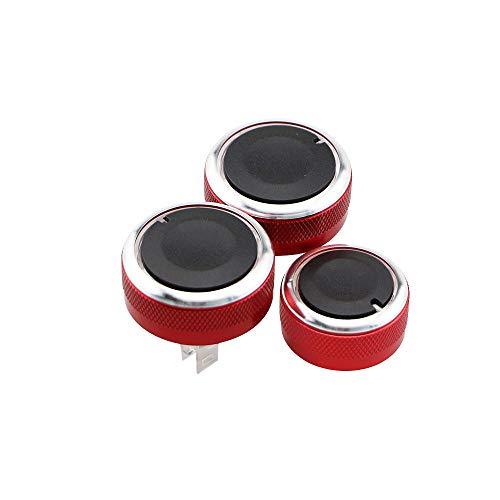 Perilla de aire acondicionado 3 unids de estilo de automóvil compatible con Nissan Tiida NV200 Livina Geniss Aire acondicionado Control de calor Interruptor de control de calor Perilla AC Accesorios p