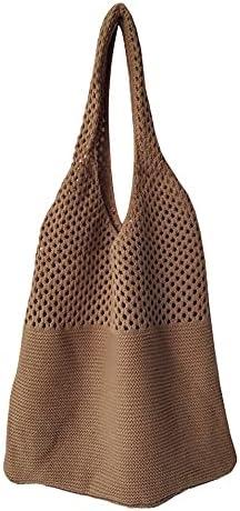Net With Chic Simple Retro Hollow Knit Single Shoulder Bag Female Vest Bag Wool Bag Wild Big Bag