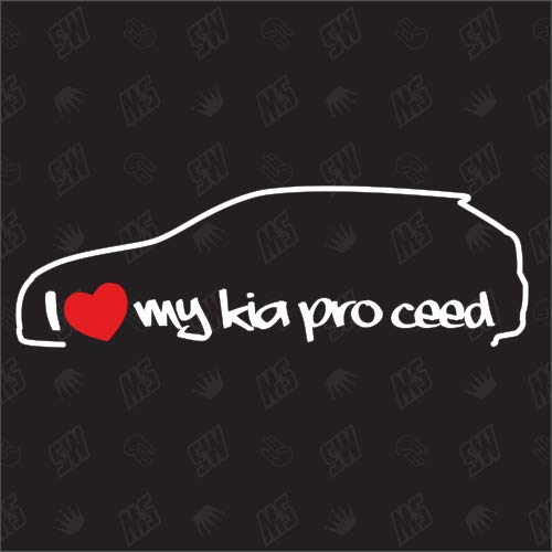 speedwerk-motorwear I Love My Pro Ceed ED - Sticker für KIA, Bj. 08-13, Coupe