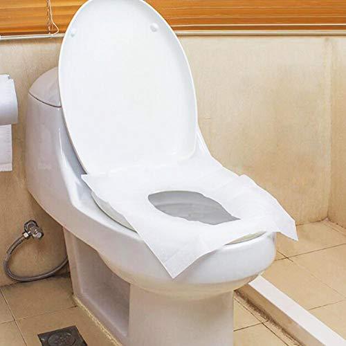 Toilet Mat 10pcs / Set Couverture Poty Enfants/Femme Enceinte solubles dans l'eau à Usage Unique siège de Toilette Papier Toilette Pad Maternelle Outils de Voyage de Papier (Color : 10pcs)