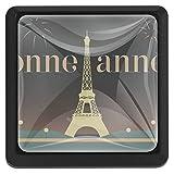 YATELI Bonne Annee Torre Eiffel París Perillas de extracción de para gabinetes, armarios, Puertas y cajones de Muebles: se Venden como un Paquete de 3 perillas