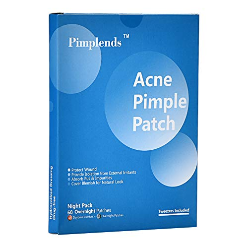 PIMPLENDS Acne Pimple Patch Drug-free Hydrocolloid Absorbing Spot Dot | Pimple Sticker Pimple Dots| Acne Cover Patch | Acne Stickers?Whiteheads Blackheads Remover (60 Patches, Day&Night)