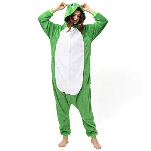 Katara 1744 (30+ Designs) Frosch-Kostüm Kröte, Unisex Onesie/ Pyjama-Qualität für Erwachsene & Teenager