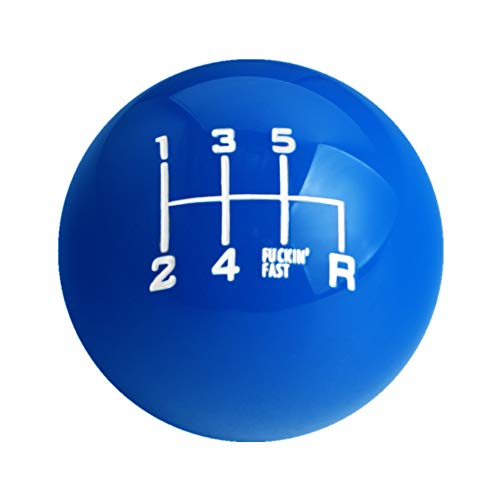 DEWHEL Fing Fast Shift Knob 6 Speed Short Throw Shifter M12x1.25 M10x1.5 M10x1.25 M8x1.25 (Blue)