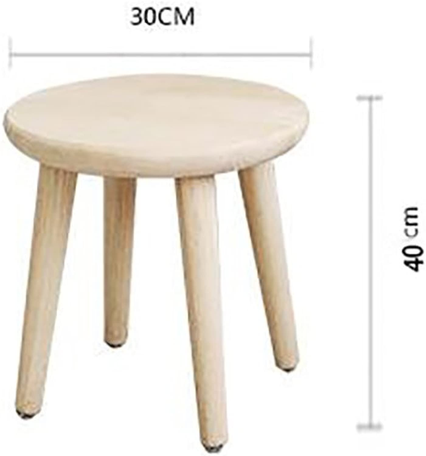 AIDELAI Bar Stool Chair- Nordic Wood Comb Makeup Stool Stool Stool Changing His shoes to Wear Adult Household Cloth Stool Meal Stool Fashion Creative Computer Saddle Seat (Size   40cm)