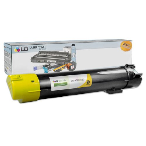 LD Compatible Toner Cartridge Replacement for Dell 330-5852 T222N High Yield (Yellow)