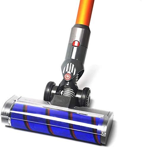 EZ SPARES Compatible with DYS Cordless V7 V8 V10 V11 Brush,Motorized Brush Floor, Motor Head,Velvety Drum Suction Head Cleaner Head Powerful Suction,Multi-Angle Rotation