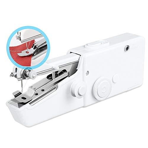 Redmoo Máquina de coser, 18 piezas, mini máquina de coser eléctrica, portátil, rápida y manejable puntada para tela, manualidades, uso doméstico y de viaje