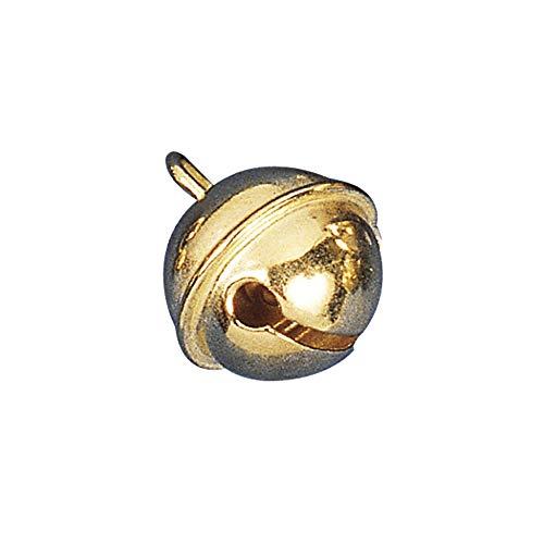 RAYHER 2503306 Metallglöckchen, kugelförmig, SB-Btl, 10 Stück, gold, 19 mm Durchmesser