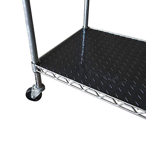 FDW Wire Shelving Unit with Wheels Steel 6 Tier Heavy Duty Layer Rack Storage Metal Shelf Garage Organizer Wire Rack Shelving Adjustable Utility 2100 LBS Capacity-18x48x82 inch (Black)