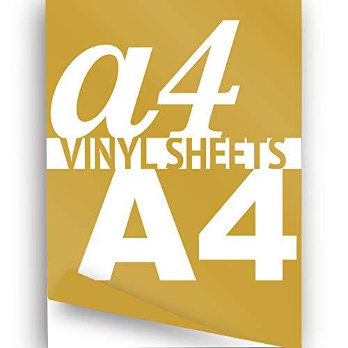 JasonCarlMorgan Hoja de vinilo imprimible A4 dorado 297 x 210 mm brillante 2 x papel autoadhesivo