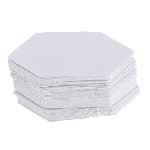FLAMEER 100pcs Papier Quilten Vorlagen, Diamant Schablonen Patchworks Vorlagen Papier - Farbe 2, 4,2 cm