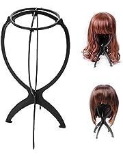 Soportes para Peluca de Cabeza, 1pcs Abs peluca, portátil plegable duradera, stent estable, para peluca/peluca/sombrero pantalla soporte peluca