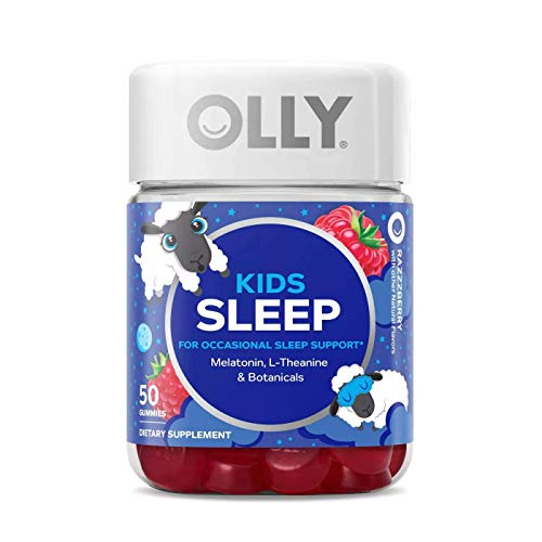 Olly Kids Sleep Vitamins Gummy! 50 Gummies Raspberry Flavor! Formulated with Melatonin, L-Theanine and Botanicals! Sleep Support for Kids! Choose from Pack 1, Pack 2 Or Pack 3! (1 Pack)