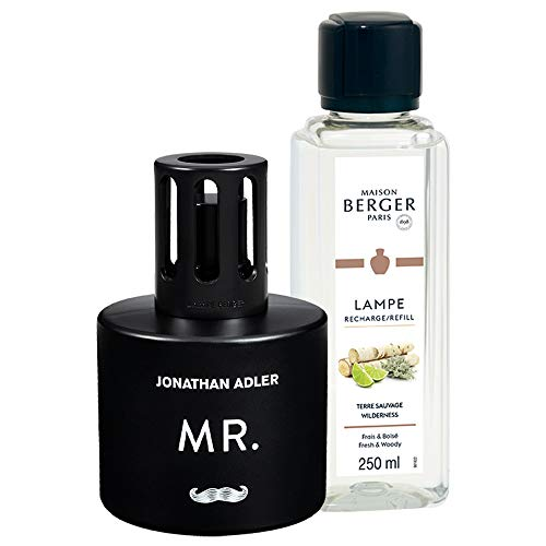 MAISON BERGER - Lampe Berger Gift Set Collection Jonathan Adler Modele Mr - Home Fragrance Diffuser - Perfuming - 5x8x6 inches - Includes Fragrance Wilderness 250 milliliters - 8.45 Fl.oz