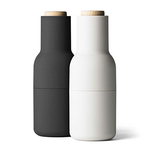 Menu Bottle Grinder ash/carbon, 2er-Pack, Pfeffermühle + Salzmühle
