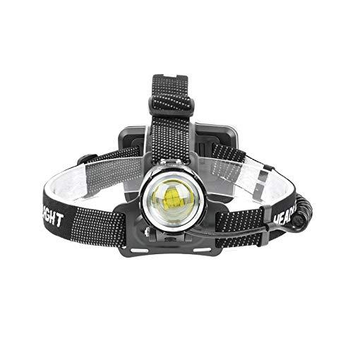 LOVSE Linterna frontal con zoom con tres modos de iluminación para mantenimiento de la pesca nocturna camping ciclismo
