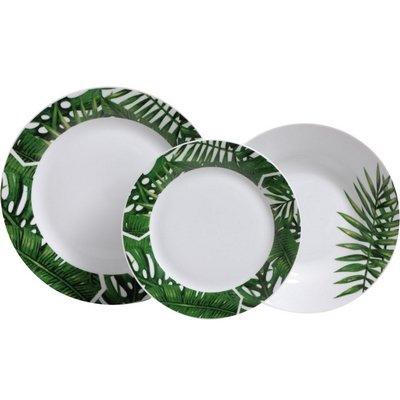 Servizio Tavola 18pz Jungle Porcellana
