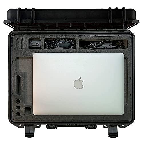 Professioneller Outdoor Transportkoffer für Apple MacBook Pro 13 - 16 Zoll - Made in Germany - passgenau - extrem sicher und stabil (16 Zoll)
