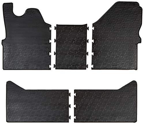 Gledring 0919 Tappetini in Gomma Compatibile con Iveco Daily HD Double Cab 2014-(Profilo G 5-Parti), Black