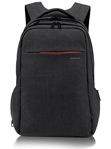 NORSENS Laptop Rucksack 15,6 Zoll Multifunktion Business Notebook Daypack Schulrucksack für Universität/Arbeit,Schwarz
