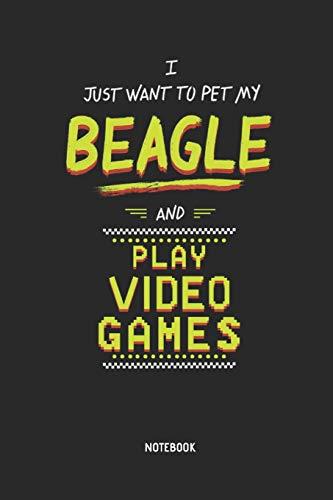 Beagle   Notizbuch: Beagel und Video Games - Liniertes Beagle Notizbuch. Tolle Geschenk Idee für Beagle Besitzer und Gamer.
