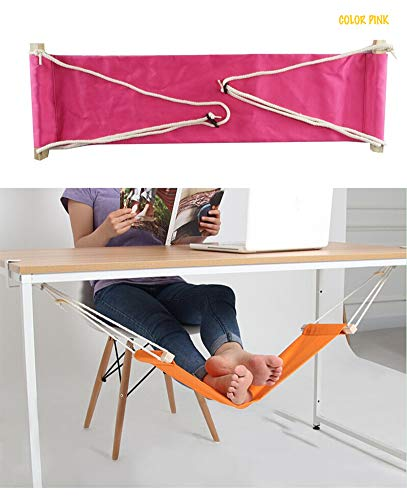 Home-organizer Tech Portable Adjustable Foot Hammock for Corner Desk Office Foot Rest Mini Under...