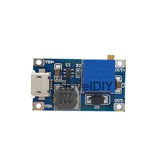 JCMYSH Módulo de relé 5PCS / Lot DC-DC Step UP Ajustable Converter Board Micro USB MT3608 Módulo de alimentación de Potencia Booster 2A Placa de Impulso para Arduino Kit de componentes electrónicos