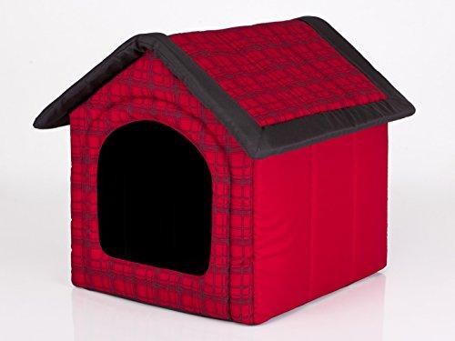Hobbydog R4 BUDCWK12 Doghouse R4 60 x 55 cm avec Grille Rouge Taille L 1,4 kg
