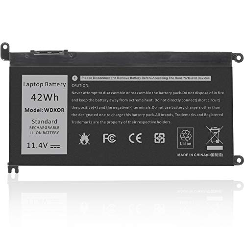 WDX0R WDXOR Notebook Battery for dell Inspiron 15 5565 5567 5568 5578 7560 7570 7579 7569 13 5368 5378 7368 7378 17 5765 5767 5770 Series; fit dell Type 3CRH3 T2JX4 FC92N CYMGM
