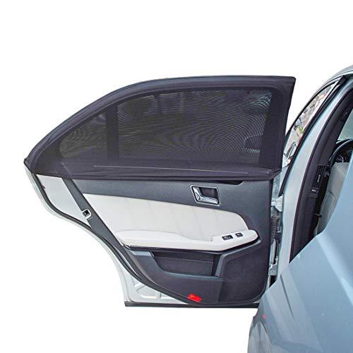 2 Pack Parasole Auto Bambini,HEQUN Tendine Parasole Auto,Parasole Laterale Auto Con Borse Di Stoccaggio,Protezione Da Raggi UV Per Ragazzi & Bambini, Universali Dimensioni 44 X 36 Cm (Nero) (1 Sucker)