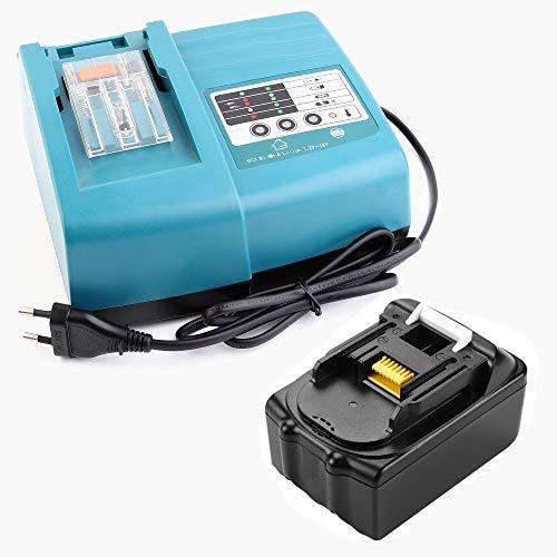 18 V 5.0 Ah Batería + 1.5 A Cargador Reemplace Makita
