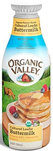 Organic Valley, Low Fat Organically Grown Buttermilk, Pasteurized, Quarter, 32 oz