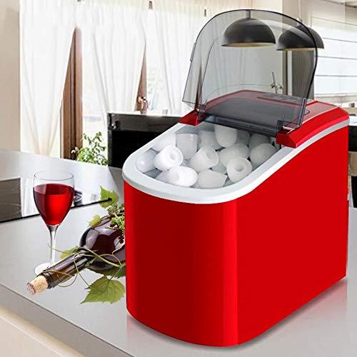 GCSEY Mini automatische elektrische ijsmachine, bewegende kogel, ronde blok-ijsblokjes, voor kleine bar, café, 15 kg / 24 uur EU